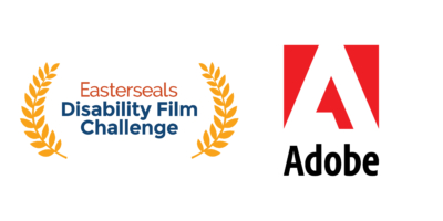 Easterseals Disability Film Challenge logo and Adobe logo