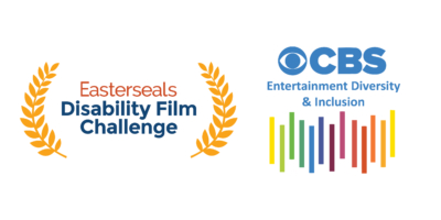 Easterseals Disability Film Challenge logo and CBS Entertainment Diversity & Inclusion logo