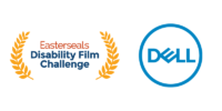 Easterseals Disability Film Challenge logo and blue Dell logo
