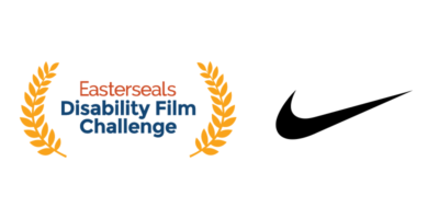 Easterseals Disability Film Challenge logo and Nike swoosh logo