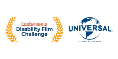 Easterseals Disability Film Challenge logo and Universal Pictures world logo