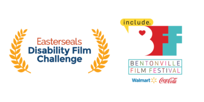 Easterseals Disability Film Challenge logo and Bentonville Film Festival logo