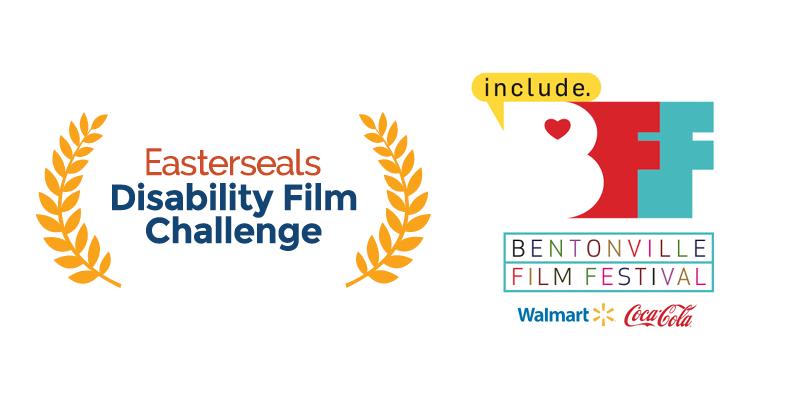 Easterseals Disability Film Challenge logo and Bentonville Film Festival logo