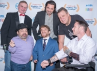 Group photo on the red carpet from the 2017 Disability Film Challenge Awards ceremony