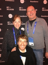 Nancy Weintraub, Mark Whitley and Nic Novicki attend the Sundance Film Festival to promote the Disability Film Challenge