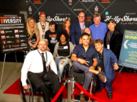 2018 Disability Film Challenge participants attend the HollyShorts Film Festival and pose on the red carpet