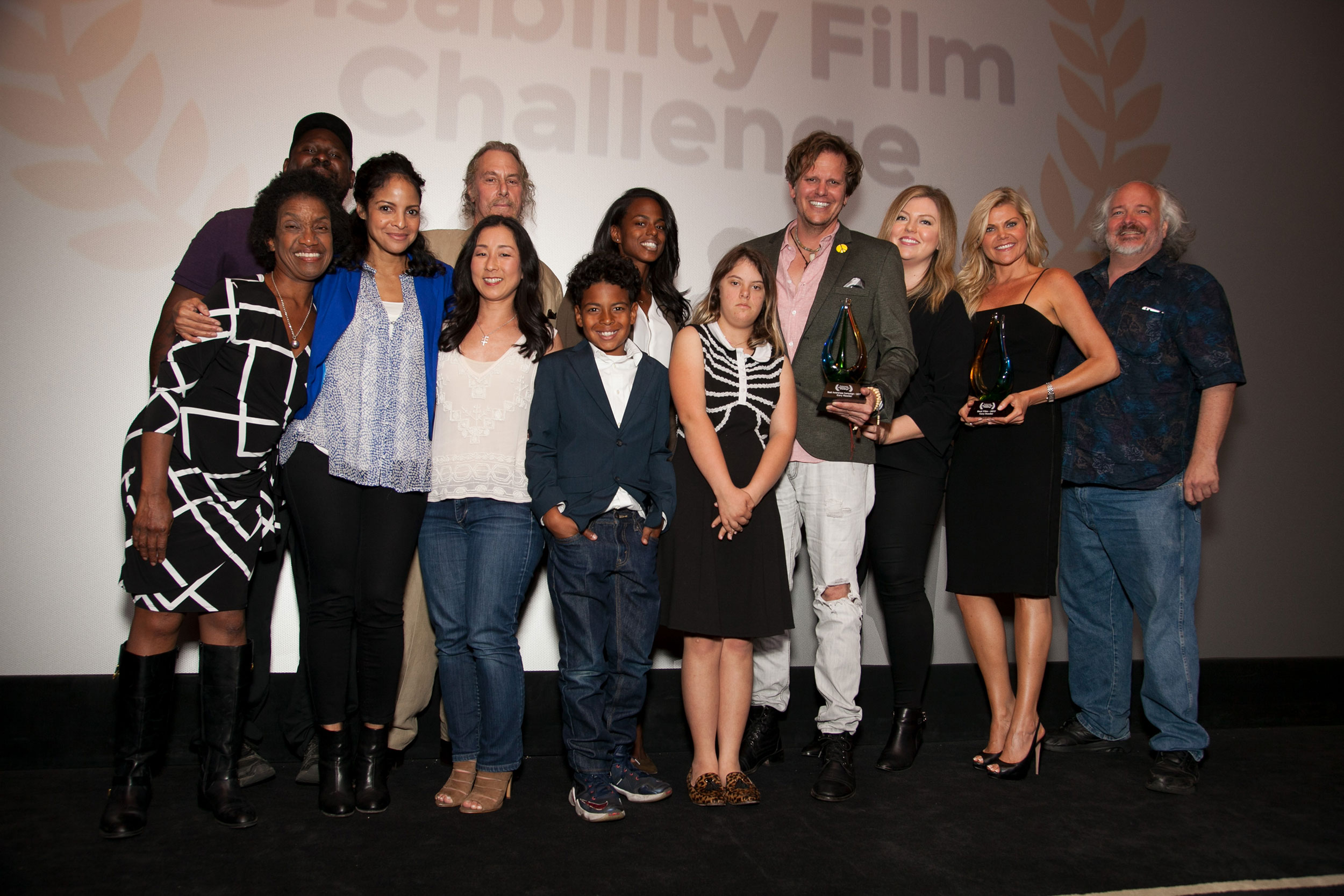 Group photo of the 2016 Disability Film Challenge winners