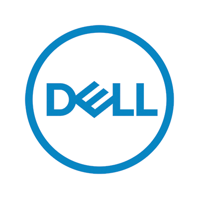 Blue Dell computer logo