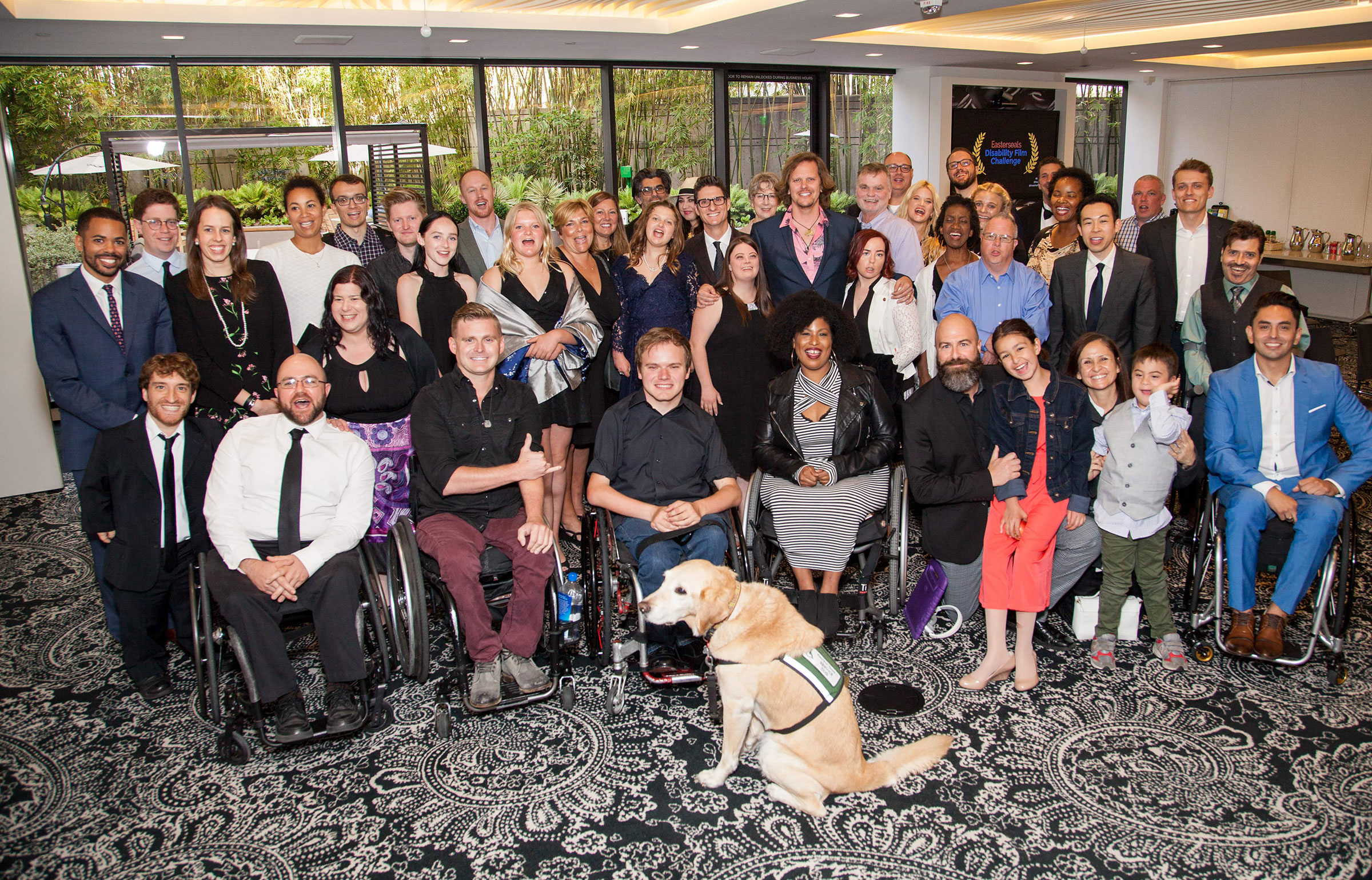 Group photo of participants in the Disability Film Challenge
