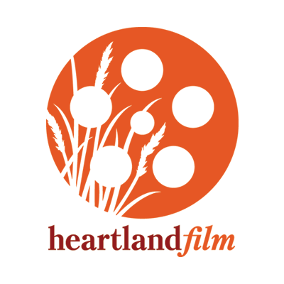 Heartland Film orange movie reel logo