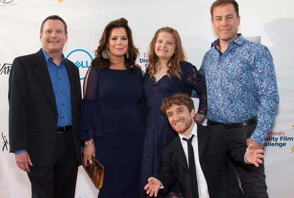 Red carpet photo featuring Nic Novicki, Marcia Gay Harden, Shoshannah Stern, Kurt Yaeger, and Patrika Darbo.
